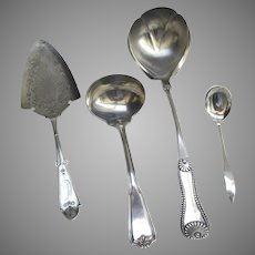 Vintage Servers Ladles Set of 4 Silver Plate