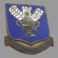 Vintage WW II US Army SUSTINEO ALAS Air Corps Pin Enamel Sterling