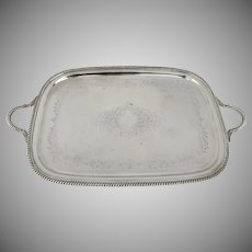 Vintage E.G. Webster & Son Silver Plated Tray Hand Chased