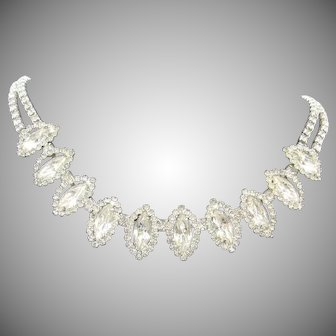 Vintage Signed Weiss Rhinestone Necklace