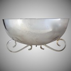 Silver Plate Contemporary Mid Century  Large Bowl