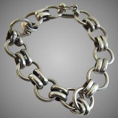 Sterling Silver Link Bracelet Thick Gauge