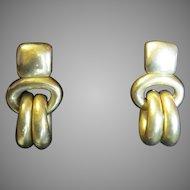 Vintage Signed Dated Steve Vaubel Vermeil Earrings