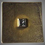 Vintage Sterling Silver Vermeil Square Shank Ring