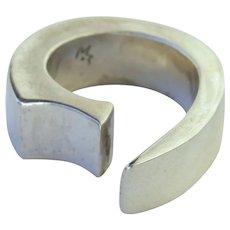 Vintage Sterling Silver Ring Modernist