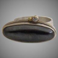 Vintage Sterling Hematite Ring