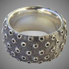 Vintage Signed Sterling Silver Band Ring