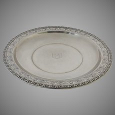 """Vintage Sterling Silver Mid Century Pierced Tray by Wallace Hebrew """"Life"""""""