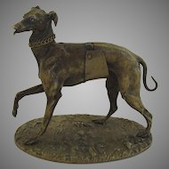 Bronze Greyhound by Alphonse Giroux c 1860