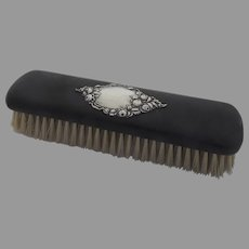 Ebony and Sterling Silver Brush c 1890