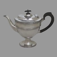 Vintage Classic Tall Tea Coffee Pot Silver Plate by William Hutton, England