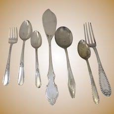 Vintage Silver Plate Flatware Seven Pieces
