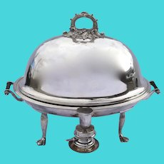 19th Century English Meat Dome Hot Entree T. Wilkinson & Sons Chafing