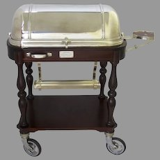 Vintage Christofle Paris Silver Plate Food Trolley Cart