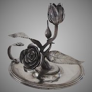 English or Irish Chamber Stick Rose Motif
