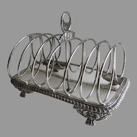 English Sterling Silver Toast Rack by Charles Fox London c 1828
