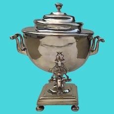 English Silver Plate Samovar Tea Hot Water Urn Spout Classic Elegant
