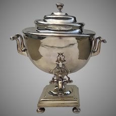 English Silver Plate Samovar Tea Hot Water Urn Spout Classic Elegant