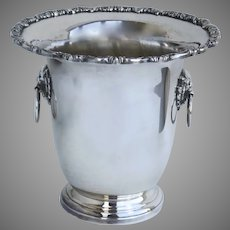 Vintage Poole Silver Plate Large Tall Ice Bucket Champagne Jardiniere