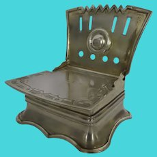 Russian Silver Gilt St. Petersburg Salt Throne Chair c 1861 Shabbat Pey