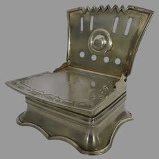 Russian Silver Gilt St. Petersburg Salt Throne Chair c 1861 Shabbat Pey