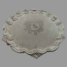 Vintage Silver Plate Small Salver Crest Raymond