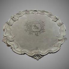 Vintage Silver Plate Small Salver Crest Raymond