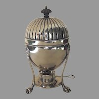 19th Century Silver Plated Egg Warmer Coddler Server Paw Feet