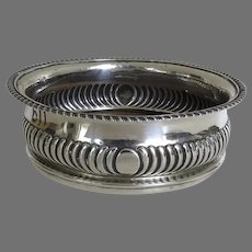 Early 19th C English Sterling Silver Wine Coaster Bottle Slide by Solomon Hougham Solomon Royes & John East Dix