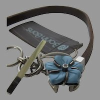 Lori Bonn Bonn Bon Charm Turquoise Leather Toggle Bracelet