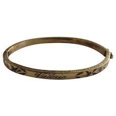 """Vintage Binder Bros. 10K Gold Filled Small or Child's Bracelet """"Valerie"""""""