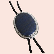 Fabulous Large Sterling Bolo Tie by Tom Kidd, Arizona