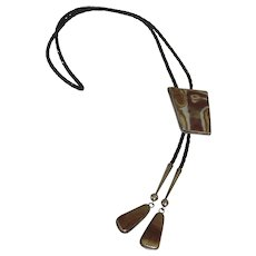 Aaron Chischiligi Signed Vintage Bolo Tie Navajo
