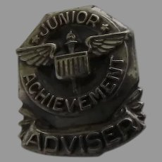 Junior Achievement Adviser Pin, Vintage Sterling Silver Lapel Pin LGB Lloyd Garfield Balfour Collectible Pin