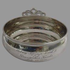Vintage Sterling Silver Lunt Porringer Pap Dish Engraved