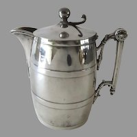 C 1870 Barrel Shaped Syrup Pitcher Creamer by Simpson Hall Miller & Co