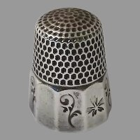 Sterling Silver Thimble by Waite,Thresher Co. of Providence, Rhode Island