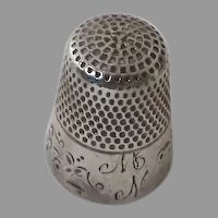 Sterling Silver Thimble by Ketcham & McDougal