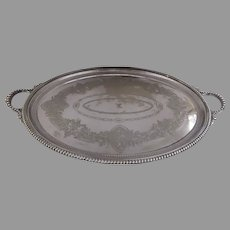 James Dixon & Sons, Sheffield c 1880 Oval Large Tray