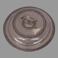 "Elkington & Co Silver Plate Vegetable Entree Serving Piece from from Steam Paddle Boat c 1860 ""Western World"""