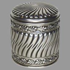 Sterling Silver J. D. Caldwell Lidded Jar Caddy Powder Box