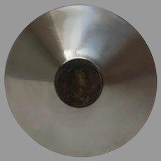 Vintage Maria Anna Augusta Ferdinandi 1 imp et regis Coin Stainless Steel Bowl