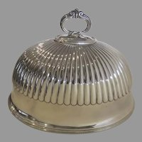 19th Century Martin Hall & Co Silver Plate Meat Dome  Platter Cove