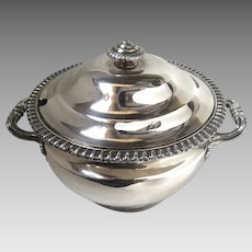 Early 19th Century Sheffield England Sauce Tureen with Lid