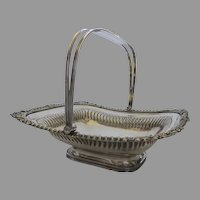 Early 19th Century Old Sheffield Fused Silver Plated Swing Handle Fruit Basket