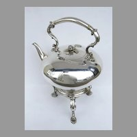 English Silver Plate Tea Pot on Stand by Richard Hood & Son London