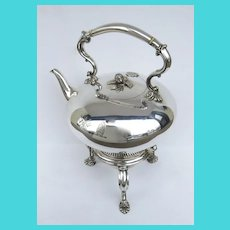 English Silver Plate Tea Pot on Stand by Richard Hood & Son London