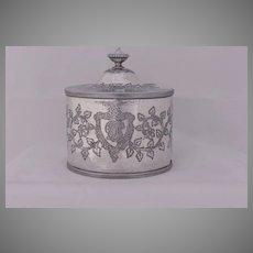 English Silver Plate Tea Caddy