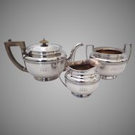 Three Piece Sheffield Plate Tea Set