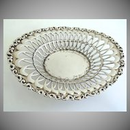 Vintage Oval Pierced Sterling Baskey by Whiting